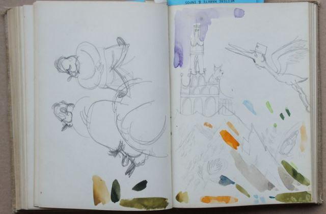 Zwei Skizzenbücher von Herbert Sandberg mit über 400 original Bleistiftskizzen 8