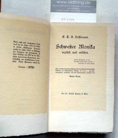 Hoffmann, E.T.A.: Schwester Monika.