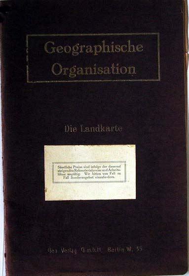 Berliner Lithograpgisches Institut Julis Moser: Geographische Organisation - Die Landkarte.