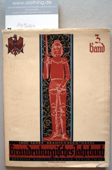 Blunck, Erich (Hrsg.): Brandenburgisches Jahrbuch. 3.Band.