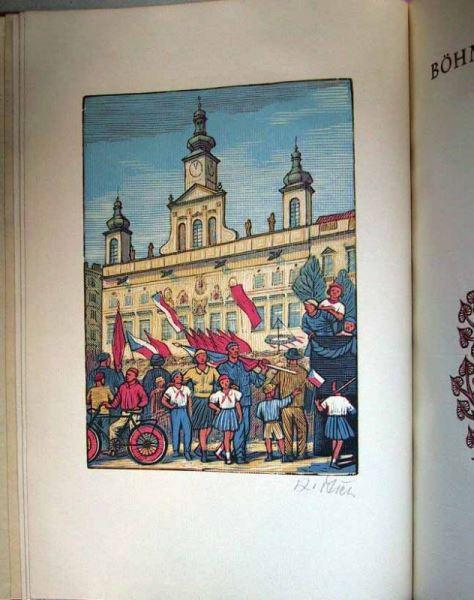 Böhmisch-Budweiss in Holzschnitten Karel Stechs. (mit 19 signierten Originalholzschnitten).