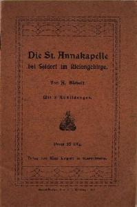Siebelt, A.: Die St. Annakapelle bei Seidorf im Riesengebirge.