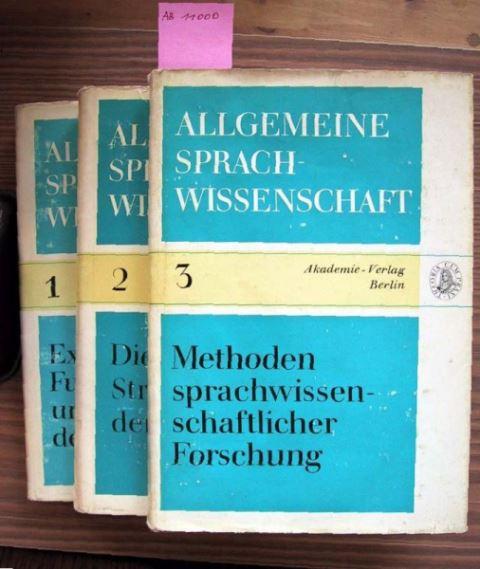 Hans Zikmund / Günter Feudel (Hrsg.): Allgemeine Sprachwissenschaft Band I, II, III.