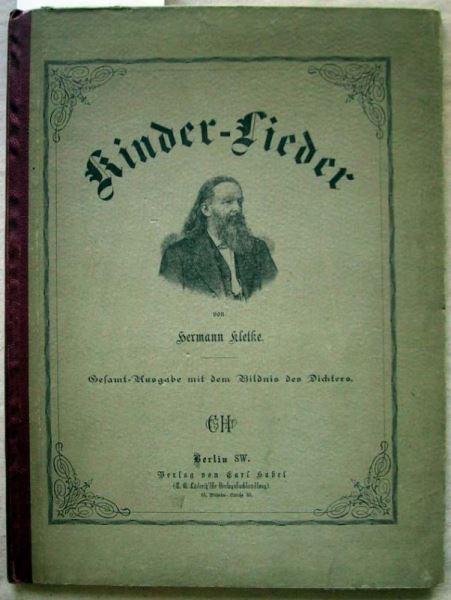 Kletke, Hermann (signiert!): Kinder-Lieder.