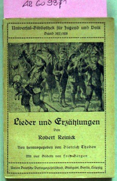 Reinick, Robert: Lieder und Erzählungen.