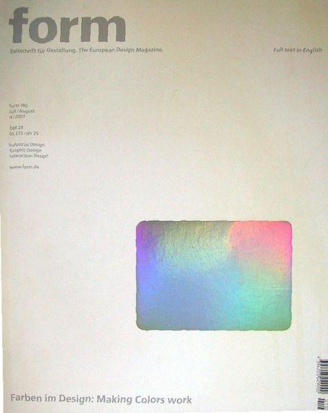 form - Zeitschrift für Gestaltung. The European Design Magazine.: form 180: Farben im Design: Making Colors work.