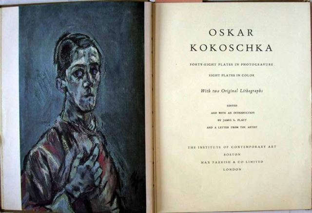 Plaut, James S. (Ed.): OSKAR KOKOSCHKA - Forty-eight plates in photogravure - Eight plates in color with two Original Lithographs.