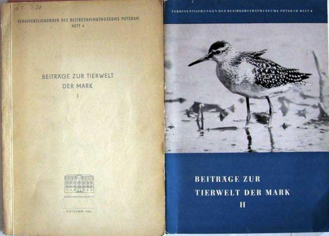 Beiträge zur Tierwelt der Mark I (und) II.