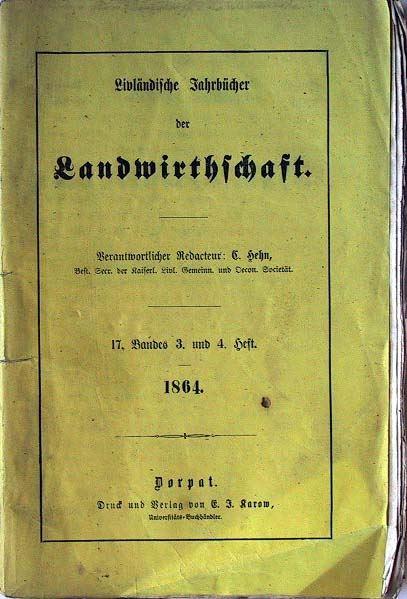 Livländische Jahrbücher der Landwirthschaft: 17. Band, 3. und 4.Heft.