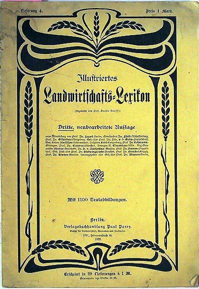 Prof. Krafft, Guido (Hrsg.): Illustriertes Landwirtschafts-Lexikon.