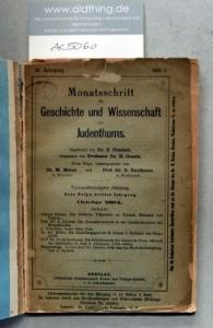 Frankel, Z., Graetz, H. und Brann, M. (Hrsg.): Monatsschrift für Geschichte und Wissenschaft des Judentums. 39. Jahrgang, 1894.