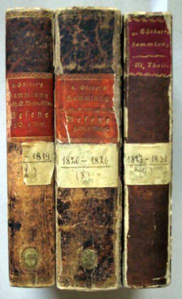 Göckel, F. von (Hrsg.): Sammlung Großherzogl. S. Weimar-Eisenachischer Gesetze, Verordnungen und Circularbefehle in chronologischer Ordnung.