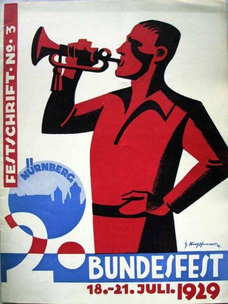 Kreuzburg, Berth. (Redaktion): 2.Arbeiter- Turn- und Sportfest Nürnberg 1929 - Festschrift 1 bis 6.