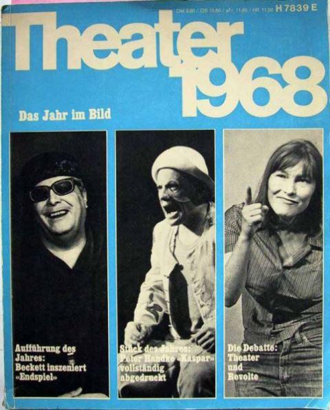 """""""Theater heute"""": Theater 1968 - Das Jahr im Bild - Chronik und Bilanz des Bühnenjahres."""