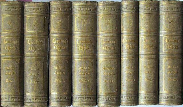 Lessing, Gotthold Ephraim: Lessings Werke. Herausgegeben von Richard Gosche. Erste illustrierte Ausgabe. Bearbeitet von Robert Boxberger.