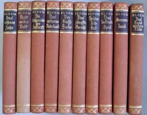 Bloem, Walter: Walter Bloem Romane [in 10 Bänden].