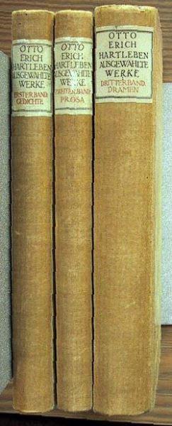 Hartlebens, Otto Erich: Ausgewählte Werke in drei Bänden.