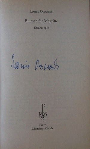 Ossowski, Leonie: Blumen für Magritte.