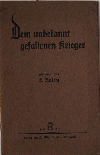 Seeberg, D.: Dem unbekannt gefallenen Krieger.