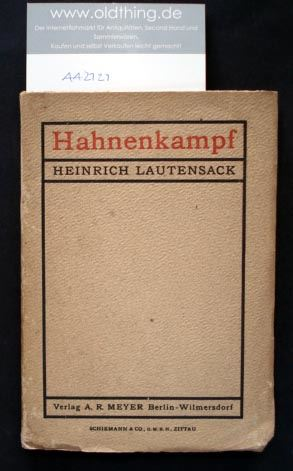 Lautensack, Heinrich: Hahnenkampf. Eine Komödie.