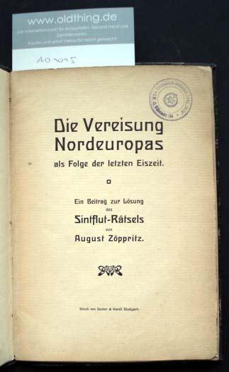 Zöppritz, August: Die Vereisung Nordeuropas als Folge der letzten Eiszeit.