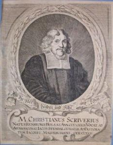 Kupferstich: M. Christianus Scriverius