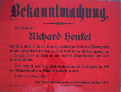 Plakat: Enthauptung Berlin 1909