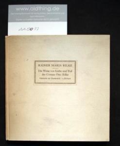 Rilke, Rainer Maria: Die Weise von Liebe und Tod des Cornets Otto Rilke.