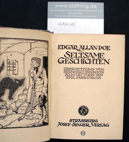 Poe, Edgar Allan: Seltsame Geschichten.