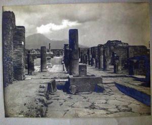 Vinitage print: Pompei, Forum civile, um 1890