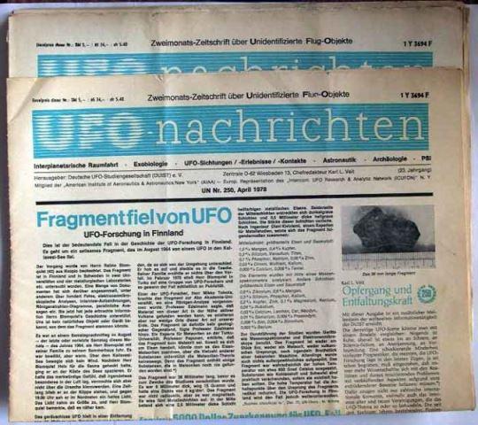 ufo nachrichten 6 zweimonats zeitschriften ber unidentifizierte flug objekte nr 0108. Black Bedroom Furniture Sets. Home Design Ideas