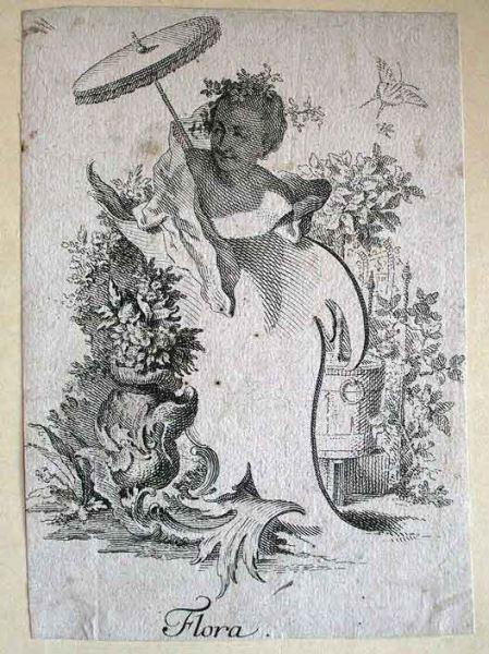 Kupferstich: Flora