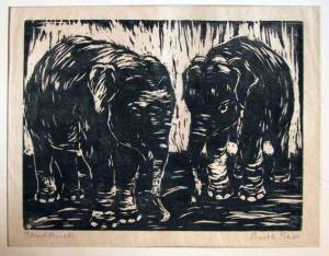 Original signierter Handdruck: Ruth Meier von 1929