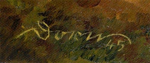 Landschaftsgemälde mit Figurenstaffage, signiert Dorn. 2
