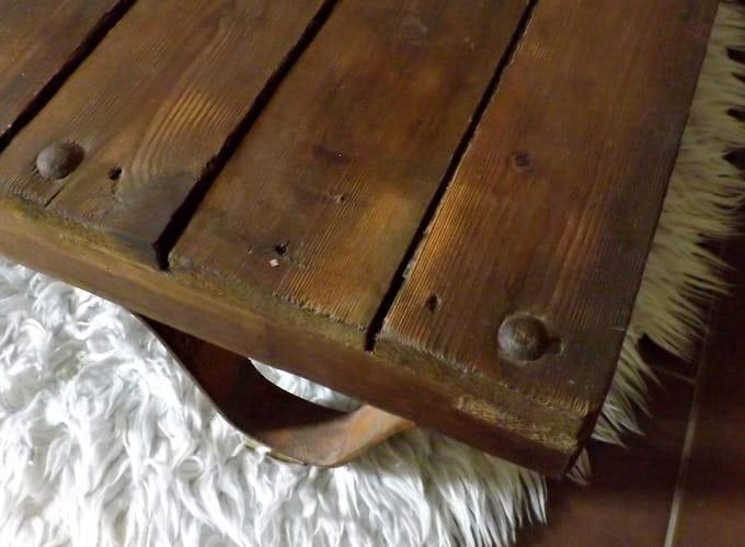 Designermöbel holz tisch  antik Fabriklook Couchtisch Holztisch handmade Unikat Recykling ...