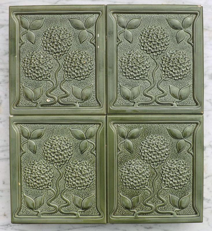 alte ofenkacheln keramik blumen jugendstil antik kamin ofm. Black Bedroom Furniture Sets. Home Design Ideas