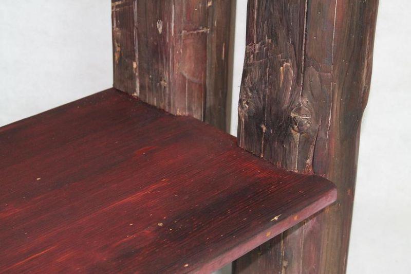Waschtisch Unterschrank altes Bauholz historische Treppenstufen