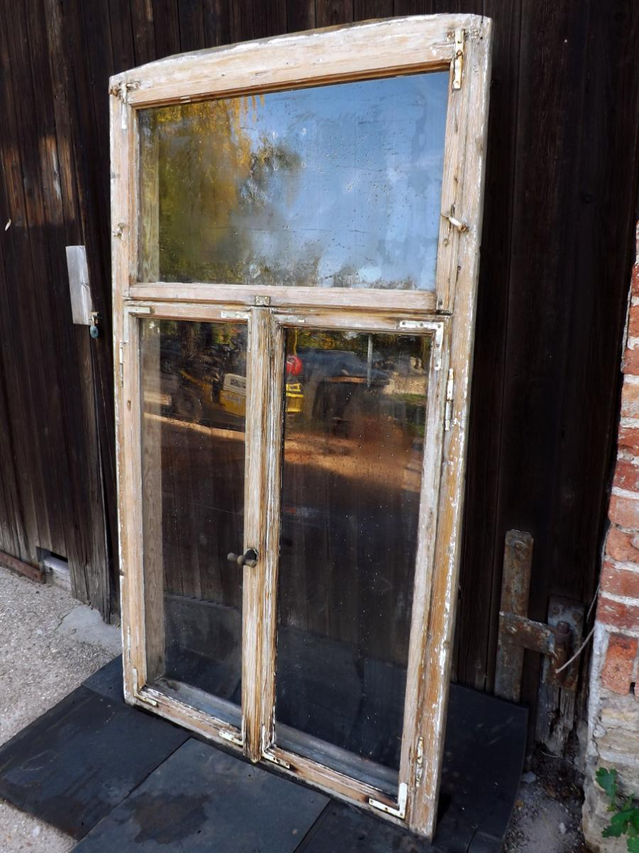 Historische Doppelkastenfenster Holzfenster Antikfenster Pavillon Glaspavillon Veranda Terrasse Verglasung 1