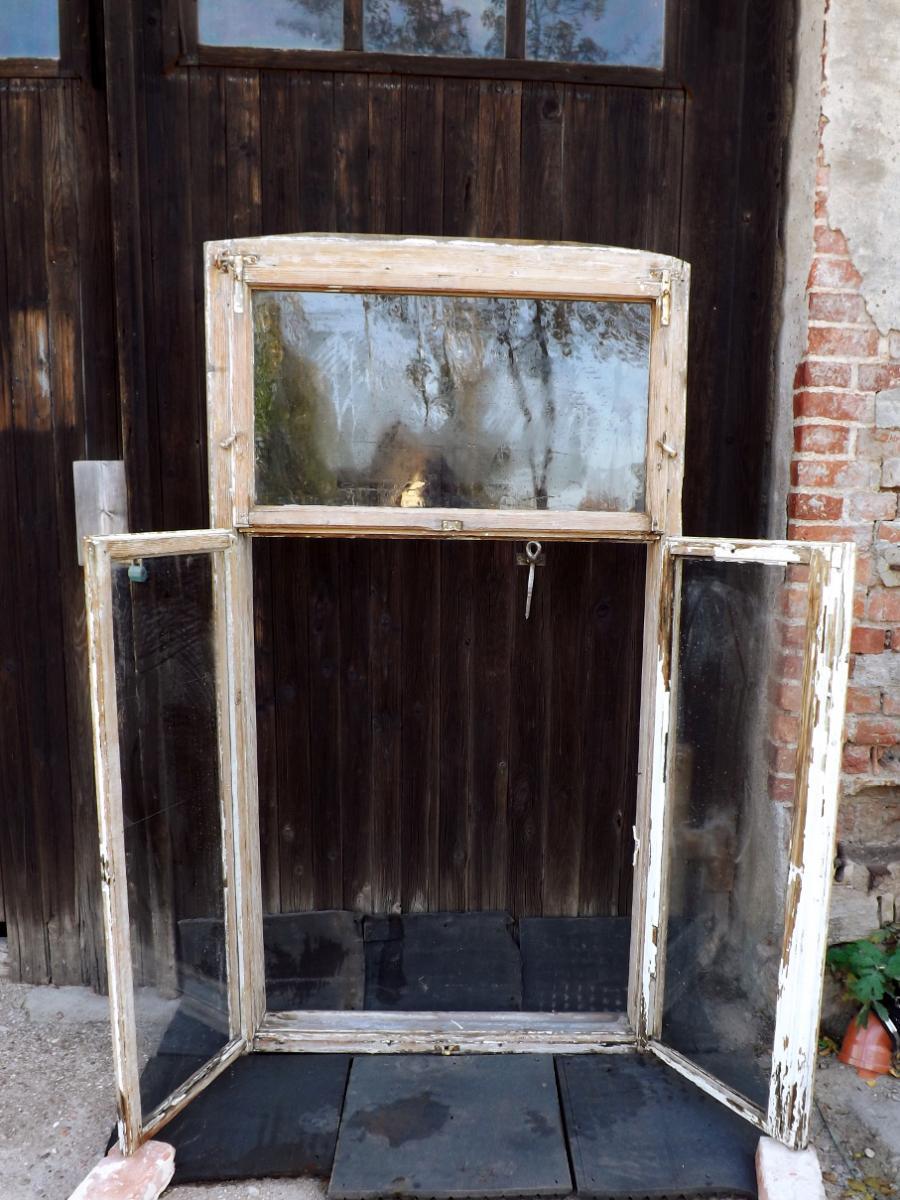 Historische Doppelkastenfenster Holzfenster Antikfenster Pavillon Glaspavillon Veranda Terrasse Verglasung 2