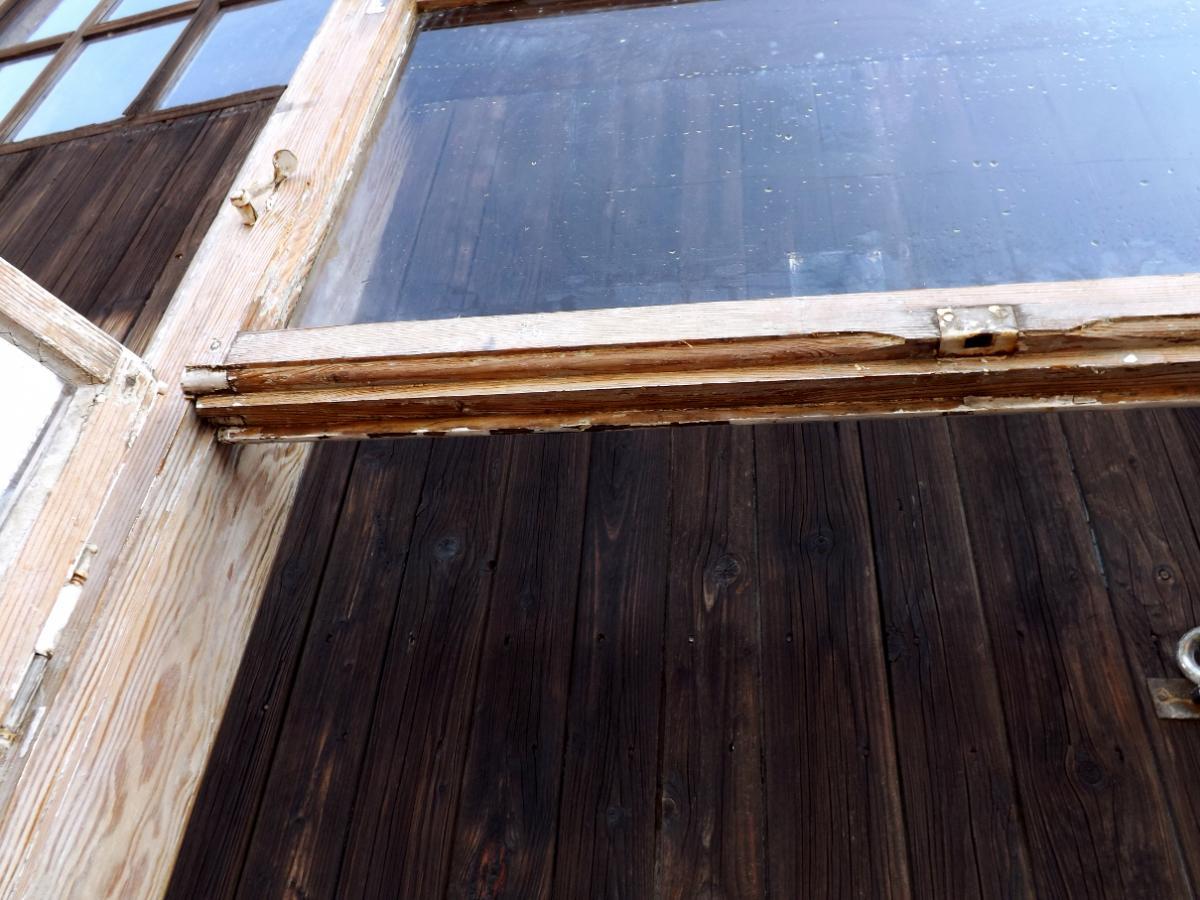 Historische Doppelkastenfenster Holzfenster Antikfenster Pavillon Glaspavillon Veranda Terrasse Verglasung 3