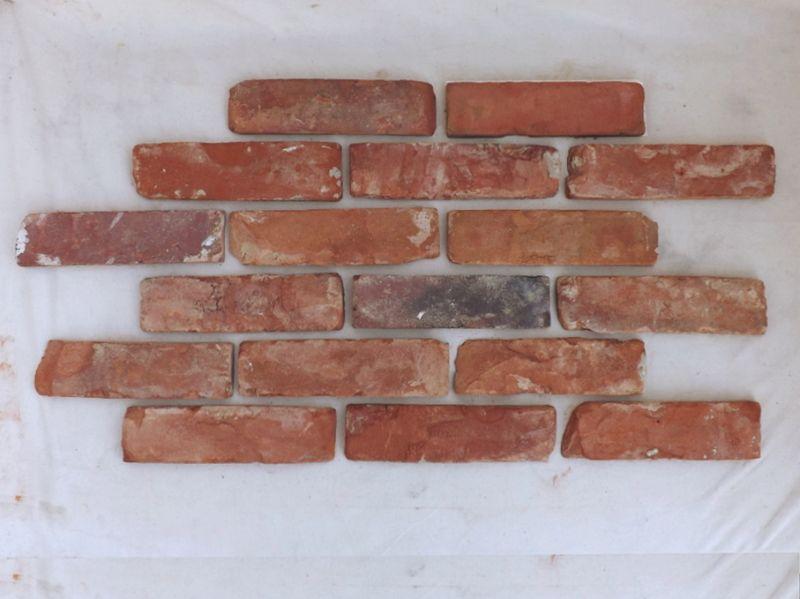 Antikriemchen Ziegelsteine Mauerziegel Backsteine retro Verblender Klinker Mauerriemchen Fliese Loft Fabrik