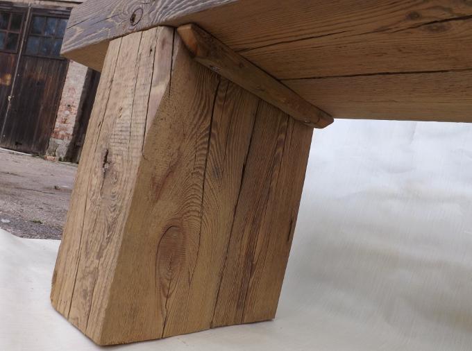 gartenbank sitzbank rustikal antik balkenbank landhaus massiv holz robust ge lt nr mb blk bank. Black Bedroom Furniture Sets. Home Design Ideas