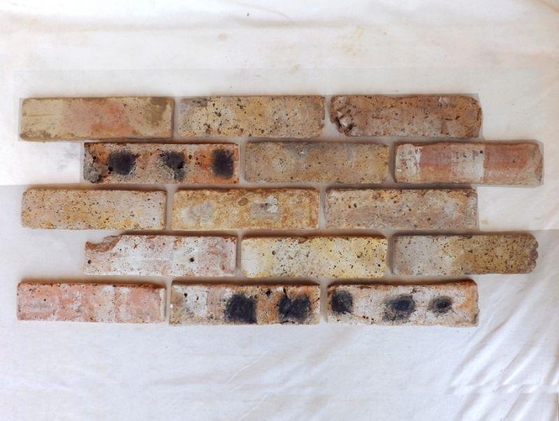 Antikriemchen Ziegelriemchen Mauerziegel Klinker antik retro Riemchen Steinriemchen Verblendziegel