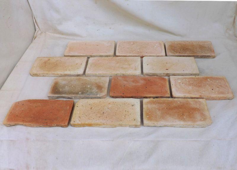 Bodenplatten Bodenziegel Bodenfliesen Backstein alte Mauersteine geschnitten Landhaus shabby chic  1