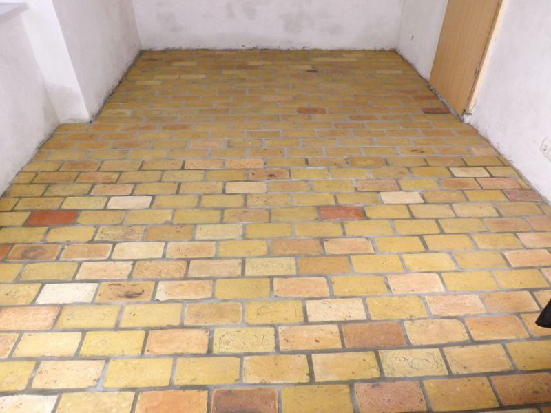 Bodenplatten Bodenziegel Bodenfliesen Backstein alte Mauersteine geschnitten Landhaus shabby chic  5