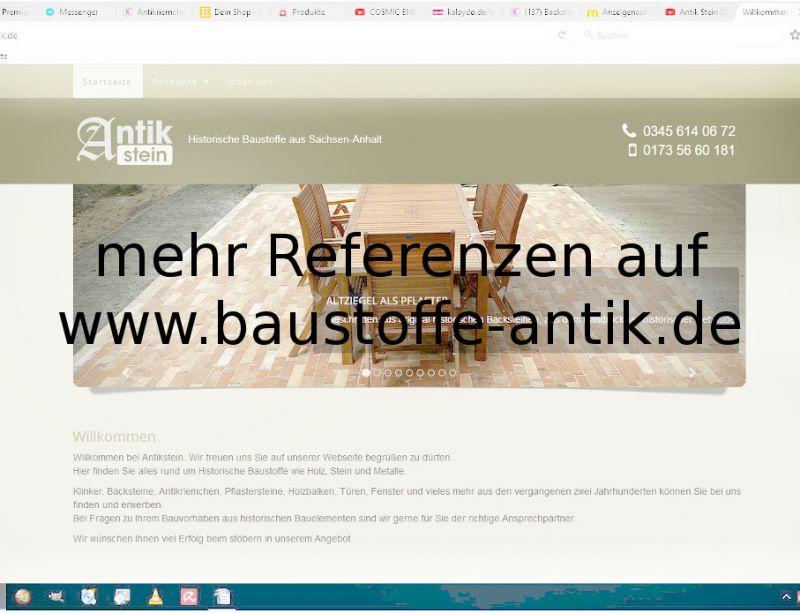 Bodenplatten Bodenziegel Bodenfliesen Backstein alte Mauersteine geschnitten Landhaus shabby chic  8