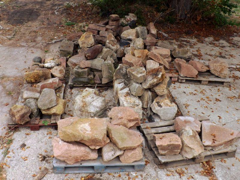 6 to Bruchstein Naturstein Porphyr Trockenmauer Gartensteine Findlinge Solitäre Dekosteine Poolumrandung