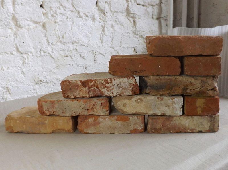 Originale Ziegelsteine Klinker Backsteine gebrauchte Mauersteine Gartensteine Gartenmauer Grill Sommerküche  1