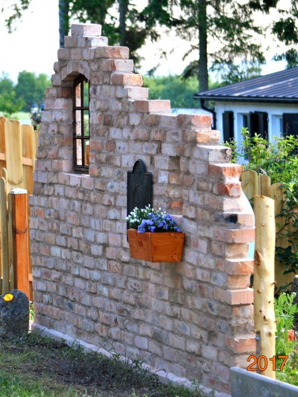 Originale Ziegelsteine Klinker Backsteine gebrauchte alte Mauersteine Antikziegel Verblender historisches Mauerwerk Weinkeller Ruinenmauer Gartensteine Gartenmauer Grill Sommerküche 6