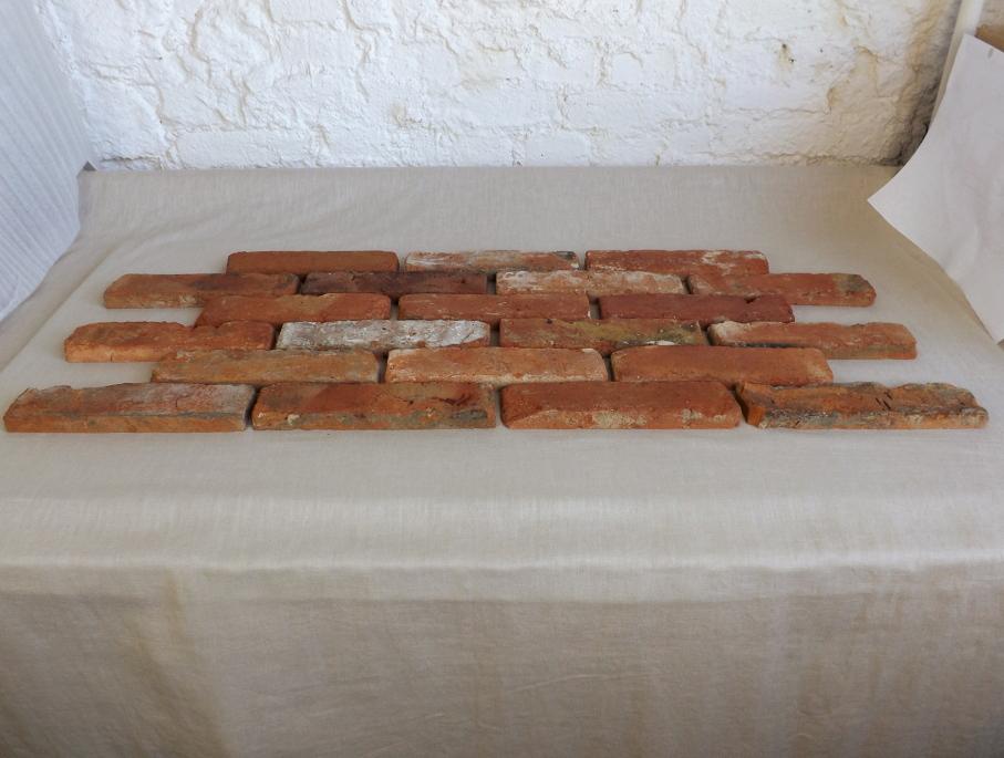 20m² Ziegel Riemchen Originale alte Ziegel Verblender Klinker Mauer Backstein